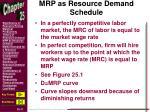 mrp as resource demand schedule