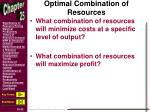 optimal combination of resources1