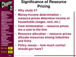significance of resource pricing1
