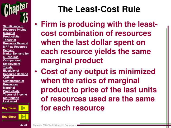 The Least-Cost Rule