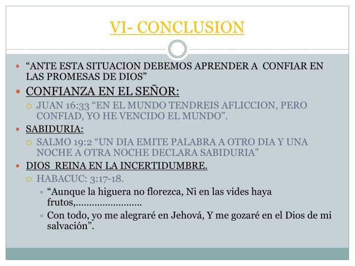 VI- CONCLUSION