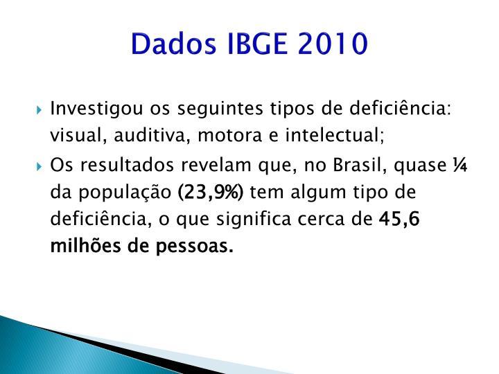 Dados IBGE 2010