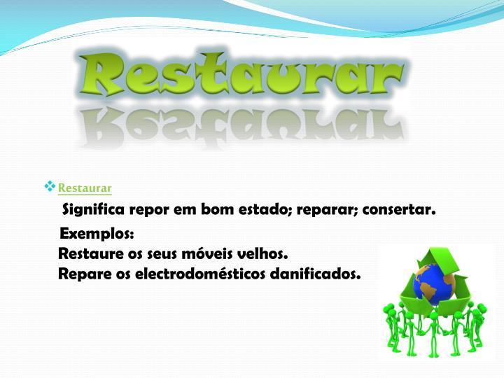 Restaurar