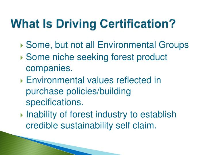 What Is Driving Certification?
