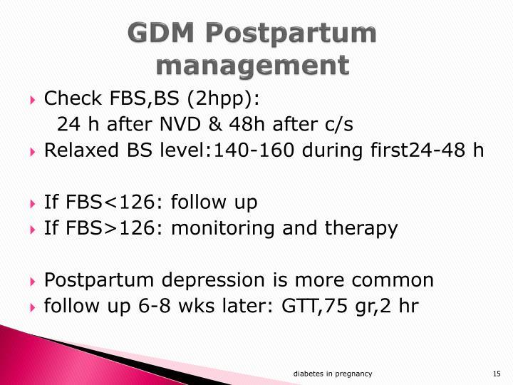 GDM Postpartum