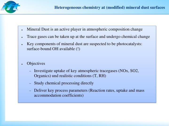 Heterogeneous chemistry