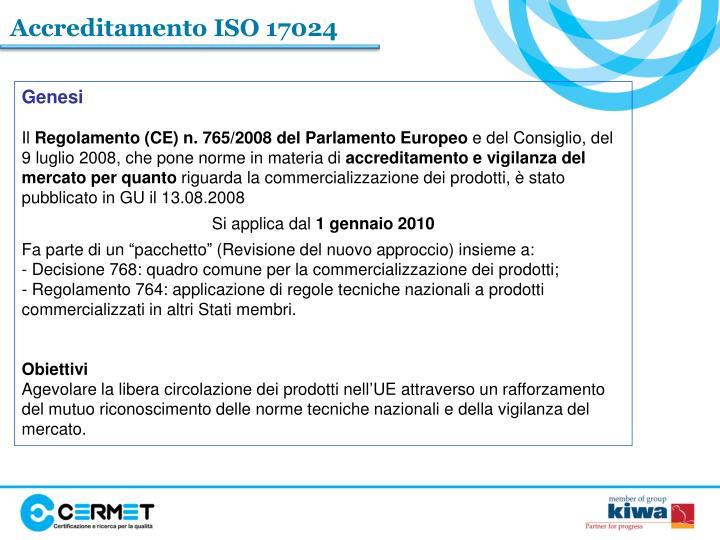 Accreditamento ISO 17024