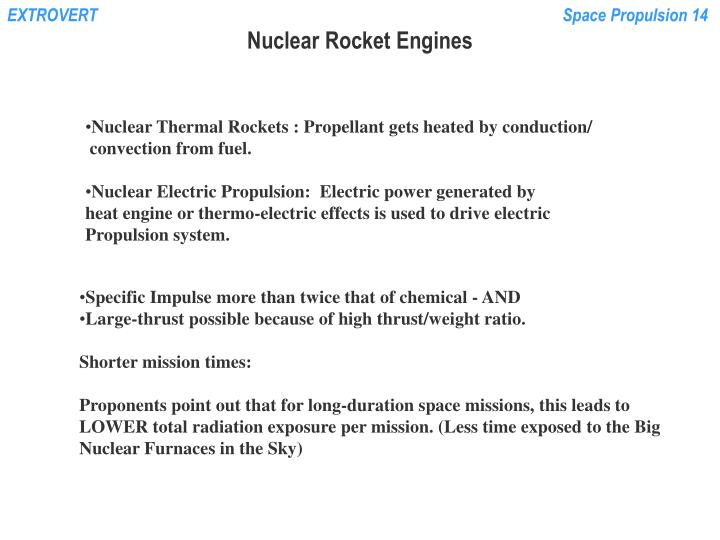 Nuclear rocket engines1
