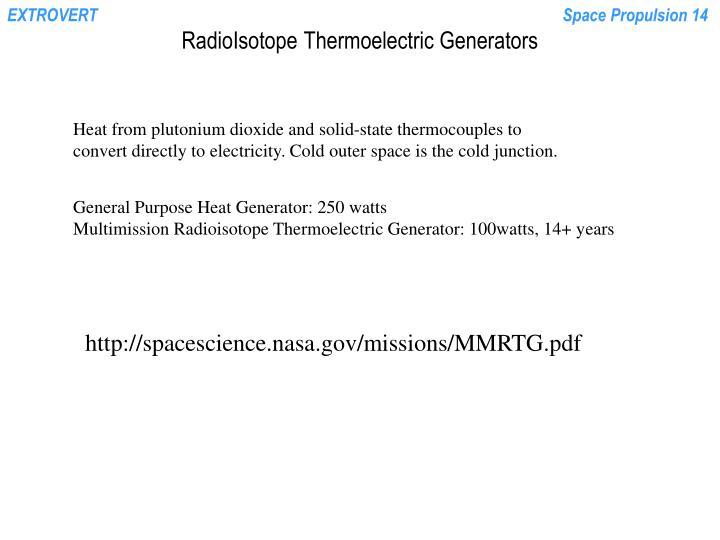 RadioIsotope Thermoelectric Generators