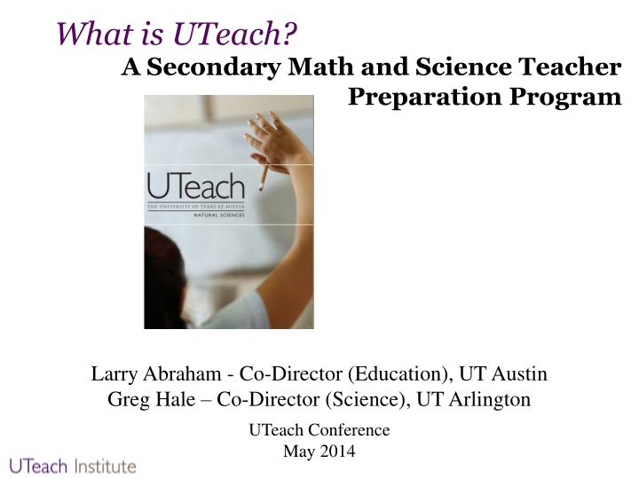 What is uteach