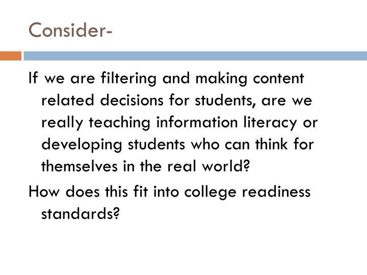 Consider-