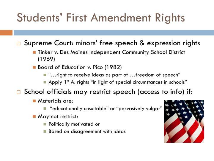 Students' First Amendment Rights