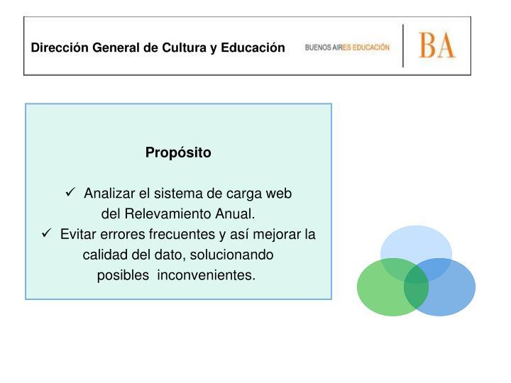 Dirección General de Cultura y Educación
