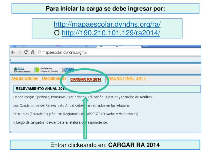 CARGAR RA 2014
