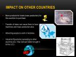 impact on other countries