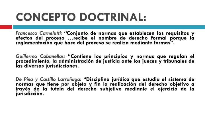 CONCEPTO DOCTRINAL: