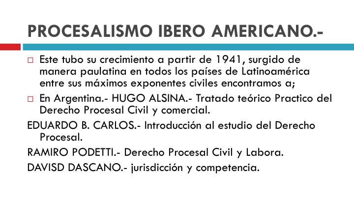 PROCESALISMO IBERO AMERICANO.-