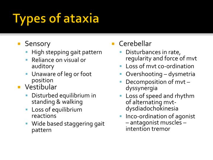 Types of ataxia