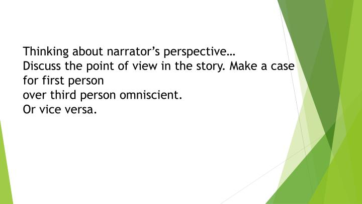 point view toni cade bambara s lesson Point of view is an essential element to a reader's comprehension of a story  in  toni cade bambara's the lesson, the events are told through the eyes o.