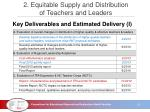 2 equitable supply and distribution of teachers and leaders3