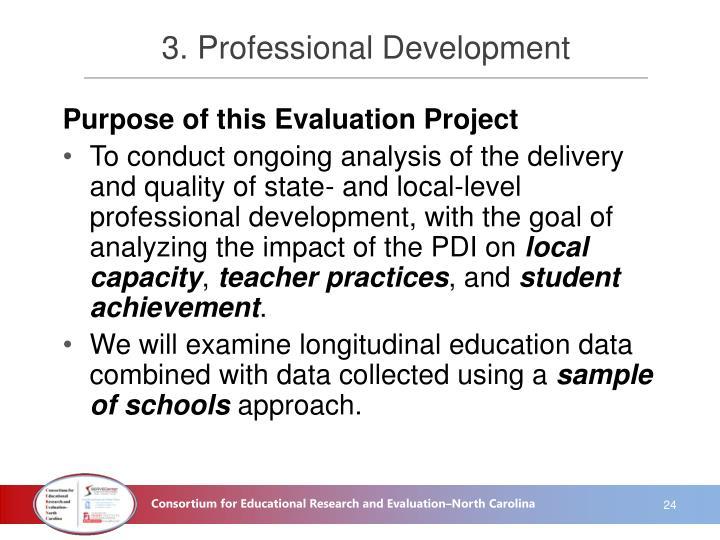 3. Professional Development