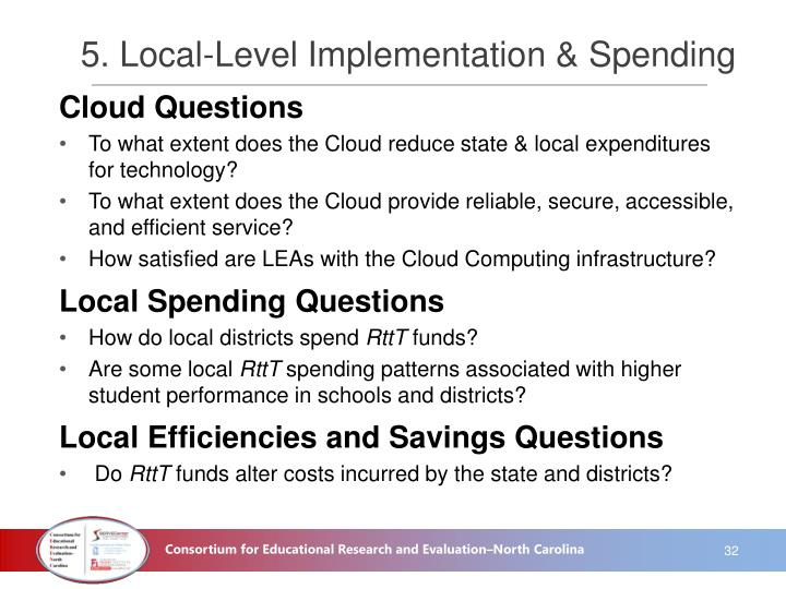 5. Local-Level Implementation & Spending