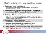 nc rttt initiatives evaluation organization