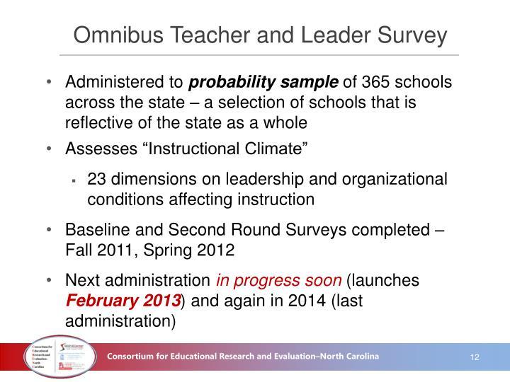 Omnibus Teacher and Leader Survey