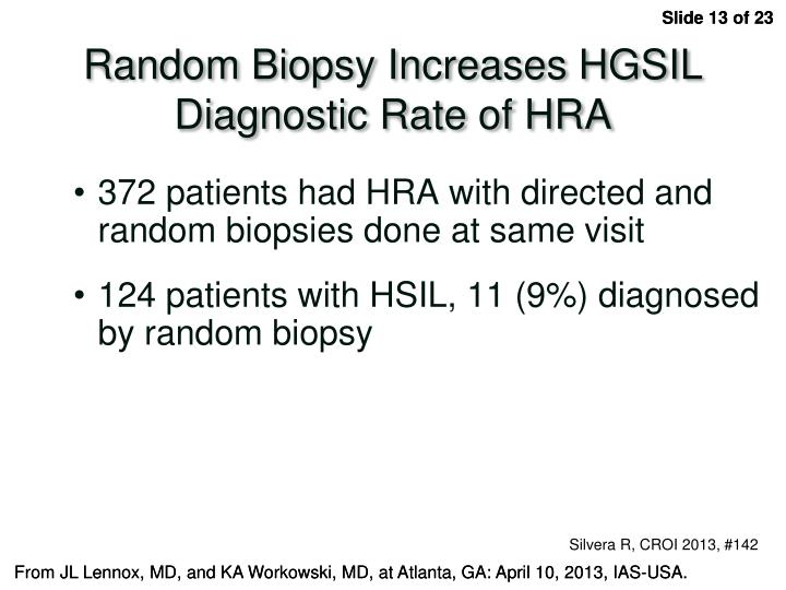 Random Biopsy Increases HGSIL Diagnostic Rate of HRA