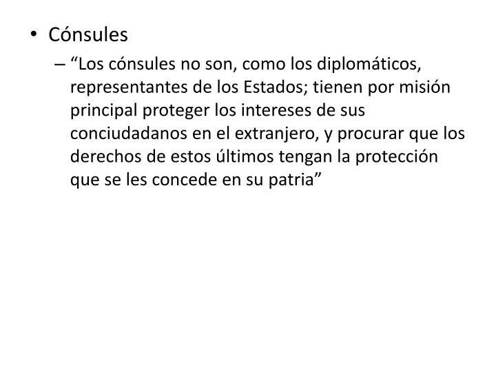 Cónsules