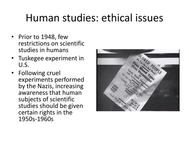 Human studies: ethical issues