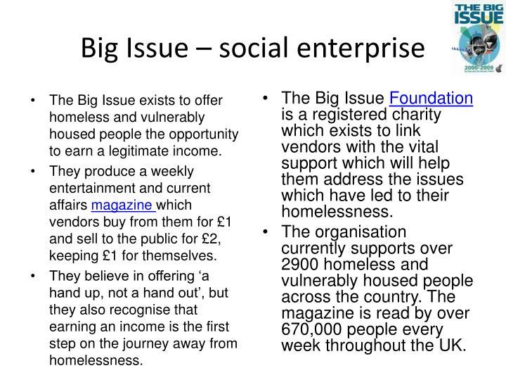 Big Issue – social enterprise