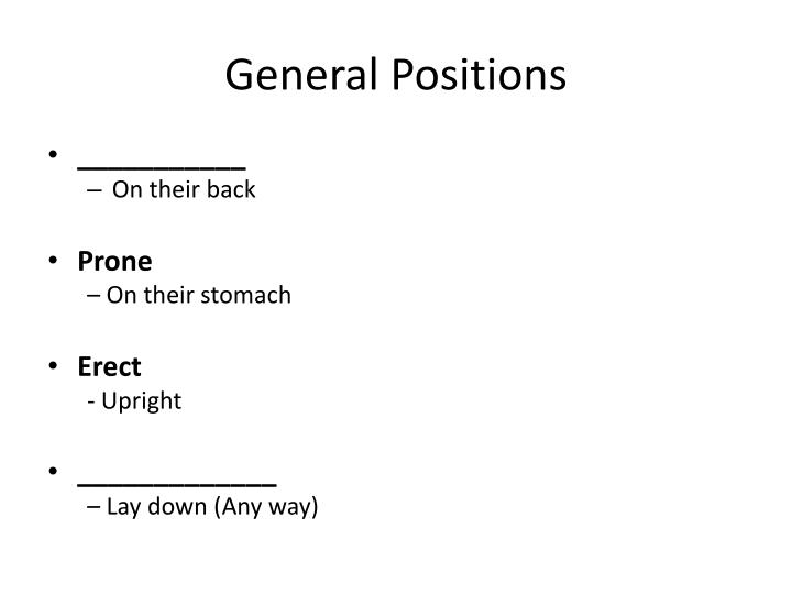 General Positions