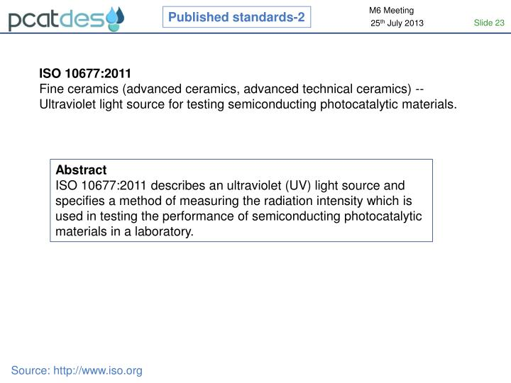 Published standards-2