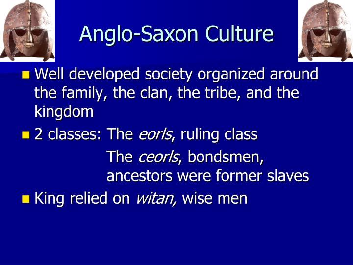 Anglo-Saxon Culture