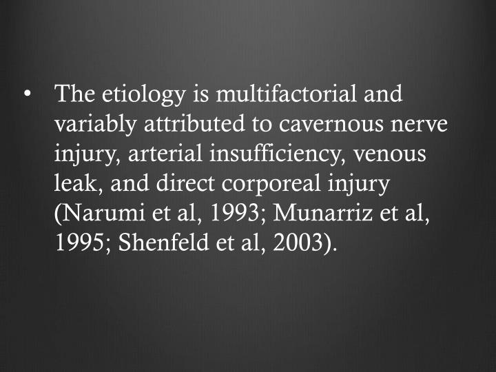 The etiology is multifactorial