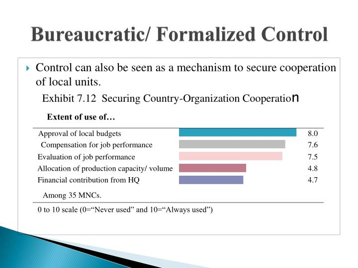 bureaucratic control Much of the interest in 'post-bureaucracy' in both managerialist and critical circles resides in its perceived potential to break with the traditions of bureaucratic, hierarchical control in work organizations.