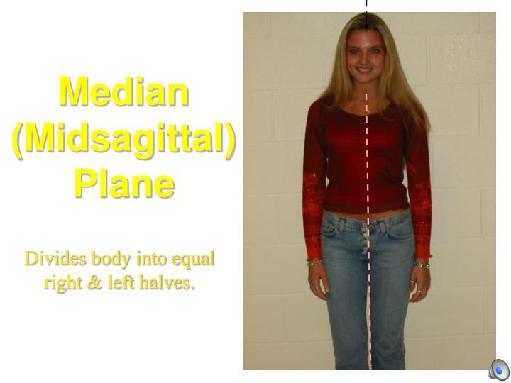 Median (Midsagittal) Plane