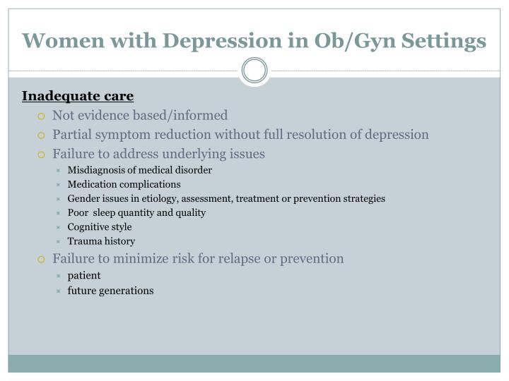 Women with Depression in Ob/