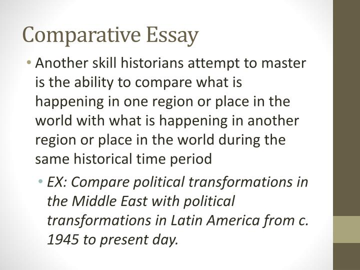 ap world history compare and contrast essay How to write a compare contrast thesis note the key words in this essay prompt: compare and contrast return to ap world history.