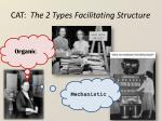 cat the 2 types facilitating structure