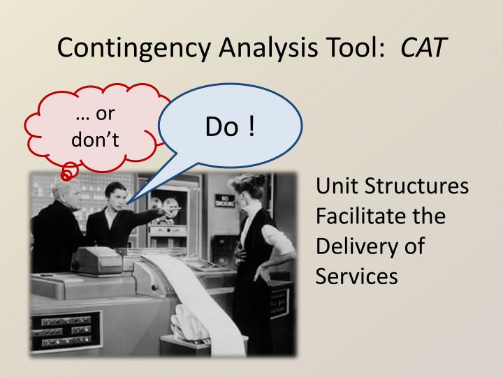 Contingency analysis tool cat