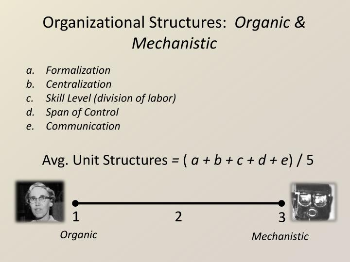 Organizational Structures: