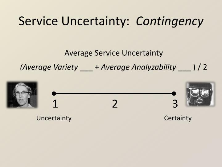 Service Uncertainty