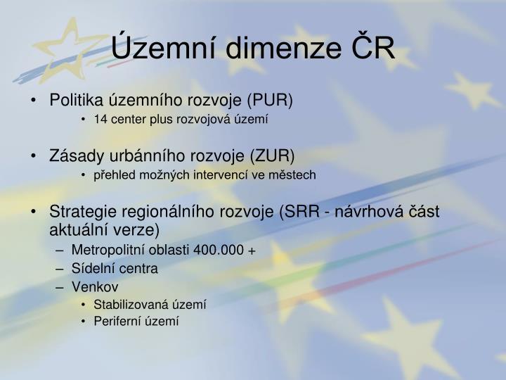 Územní dimenze ČR