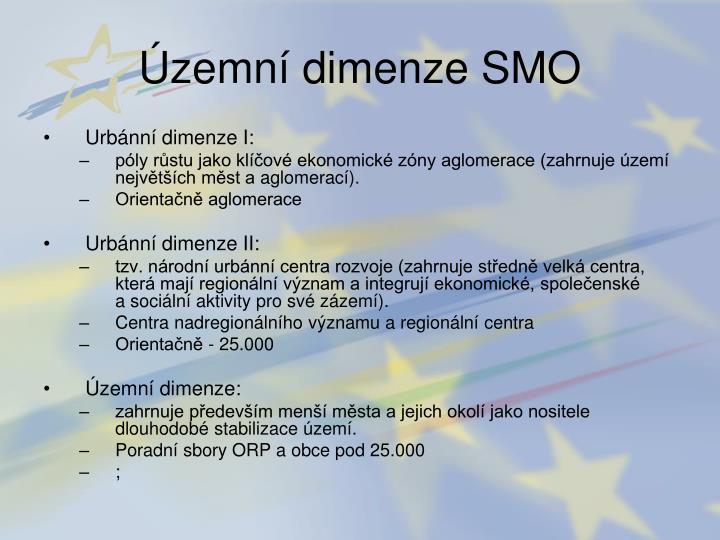 Územní dimenze SMO