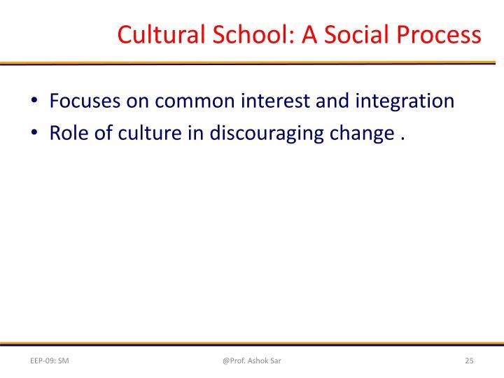 Cultural School: A Social Process