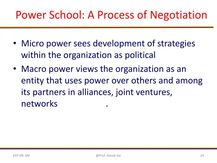 Power School: A Process of Negotiation