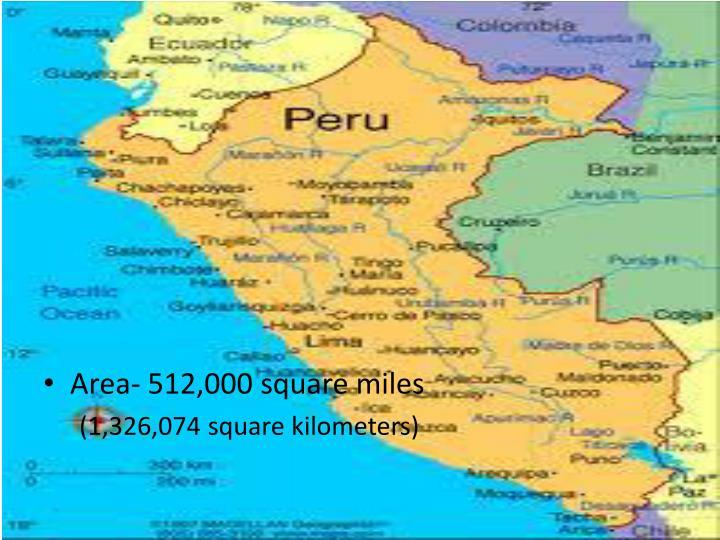 Area- 512,000 square miles