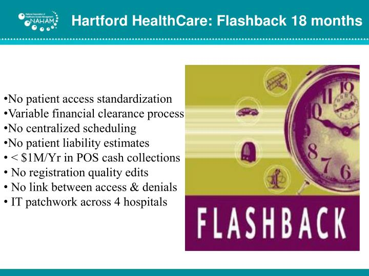 Hartford HealthCare: Flashback 18 months